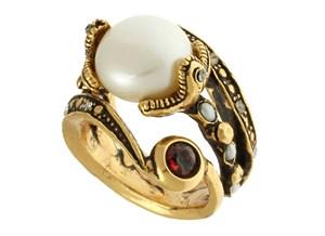 Кольцо с жемчужиной Alcozer