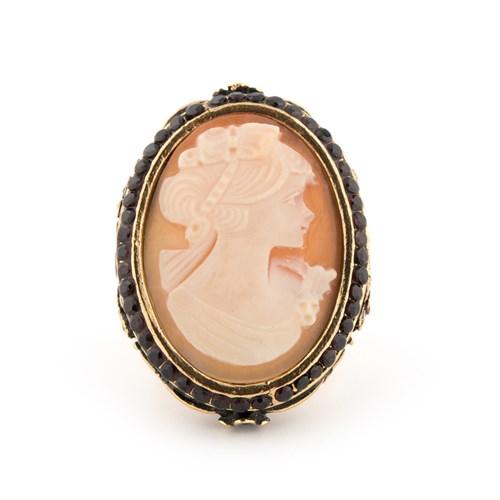Кольцо  с камеей и жемчугом Alcozer & J - фото 10867