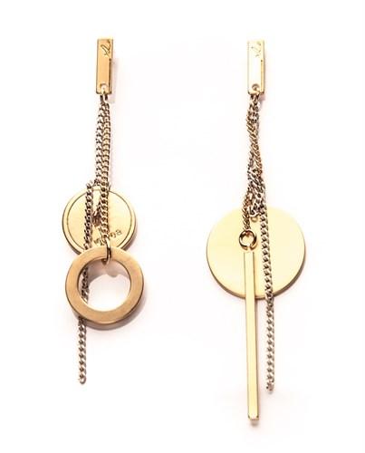 Асимметричные серьги с цепочкой Nuance