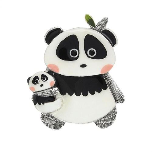 Брошь с пандами из коллекции Taraboum Taratata