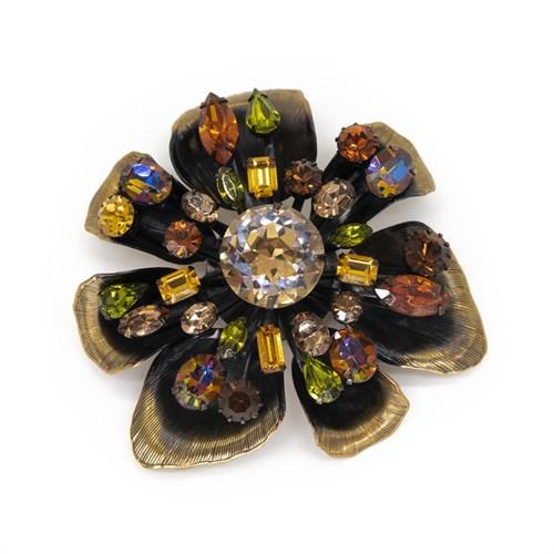 Винтажная брошь в виде цветка Vendome