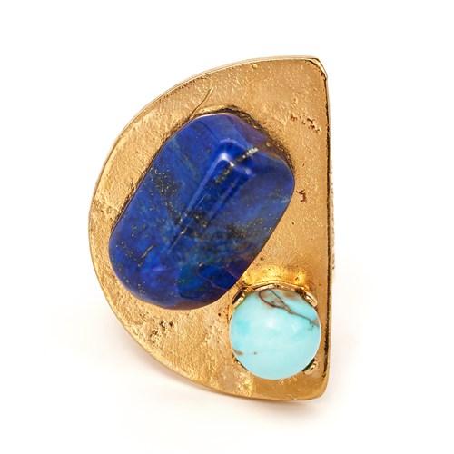 Кольцо с бирюзой и лазуритом Philippe Ferrandis из коллекции «FORMENTERA»