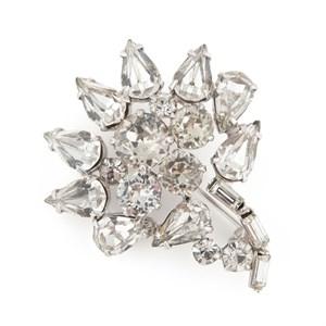 """Винтажная брошь """"Цветок"""" с кристаллами"""