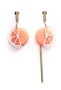 Асимметричные серьги имитирующие апельсин Nuance