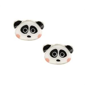 Серьги-гвоздики в виде панды из коллекции Taraboum Taratata