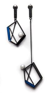 Асимметричные серьги с пятиугольниками Nuance