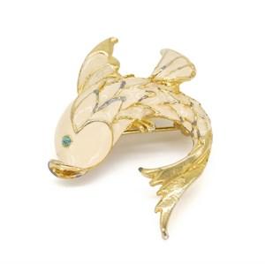 Винтажная брошь «Сказочная рыбка»