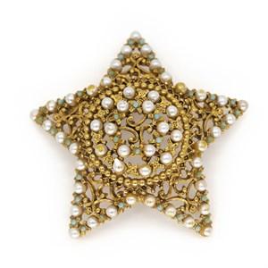 Винтажная брошь в виде звезды FLORENZA