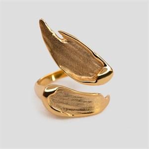 Позолоченное двойное кольцо «Brush» Fjord