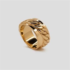 Позолоченное кольцо с цепью «Basic» Fjord