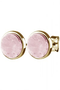Серьги-гвоздики «Cork» с розовым кварцемDYRBERG/KERN