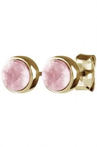 Серьги-гвоздики «Clic» с розовым кварцемDYRBERG/KERN