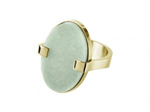 Кольцо «Malai» с зеленым амазонитом DYRBERG/KERN
