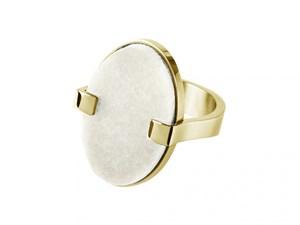 Кольцо «Malai» с белым мраморомDYRBERG/KERN