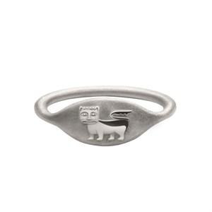 Кольцо-печатка «Лев/Кот» Онега