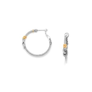 Серьги конго с морским узлом из коллекции «La Marina» ORI TAO