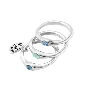 "Кольцо ""Happy blue"" UNOde50"