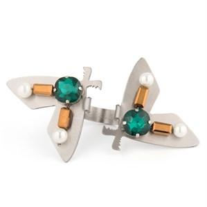 """Кольцо ручной работы """"Crystal moth"""" 2LITTLEGIRLS"""