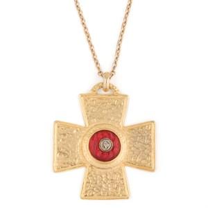 "Кулон на цепи ""Мальтийский крест"" Robert Rose"