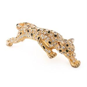 Винтажная наплечная брошь «Леопард»