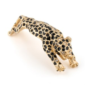 """Винтажная наплечная брошь """"Леопард"""""""